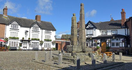 the-historical-Saxon-Crosses-in-Sandbach-town-square
