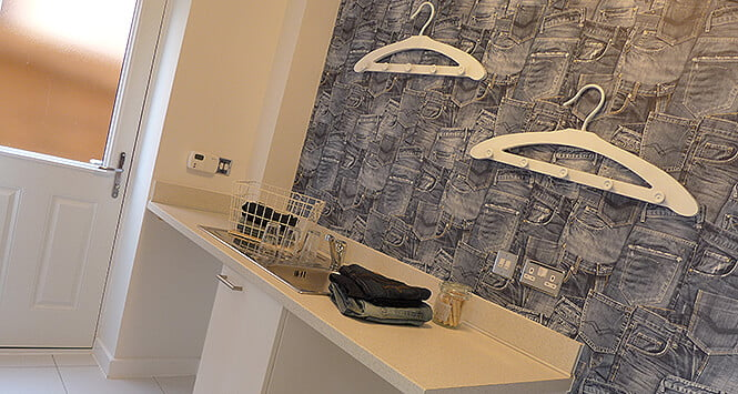The Oakworth show home utility room