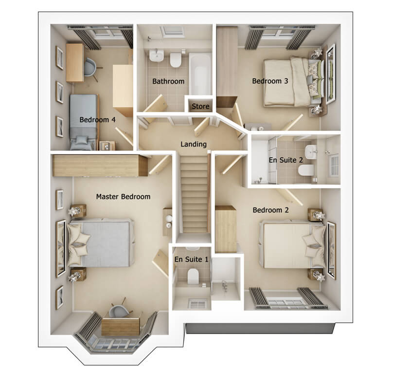 Brearley First Floor plan