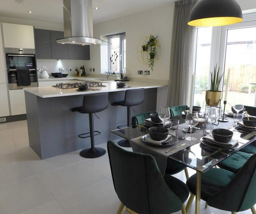 The Brearley show home, kitchen diner