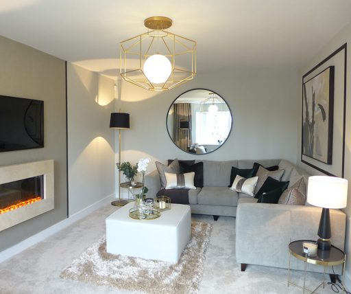 The Brearley show home, lounge