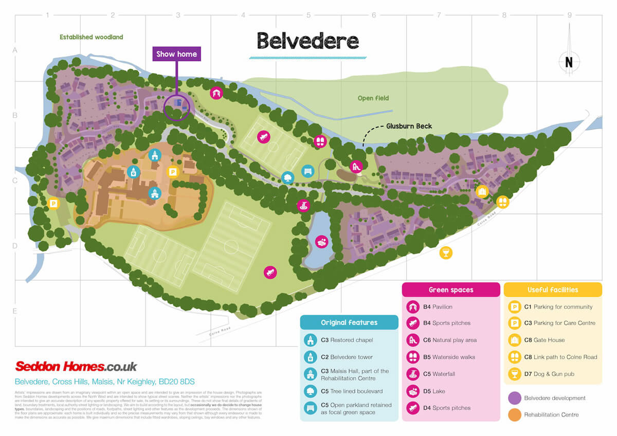 belvedere map of grounds