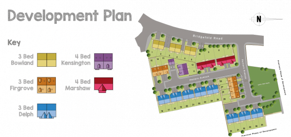 Bridgefold development plan map