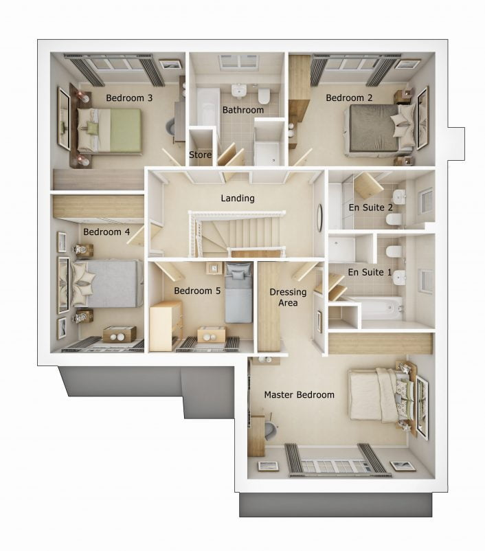 Lytham first floor plan