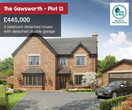 The Hawthorns, Gawsworth plot 13