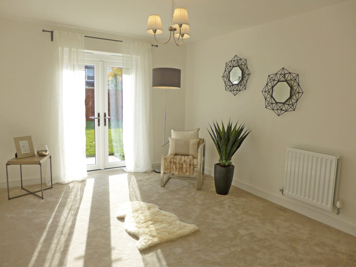 Lounge with french doors