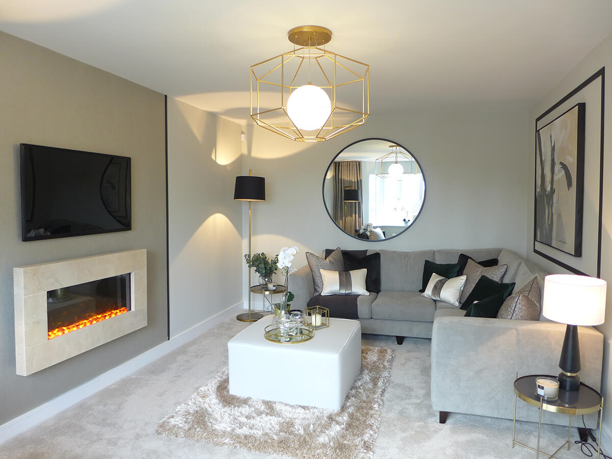 The Brearley show home lounge