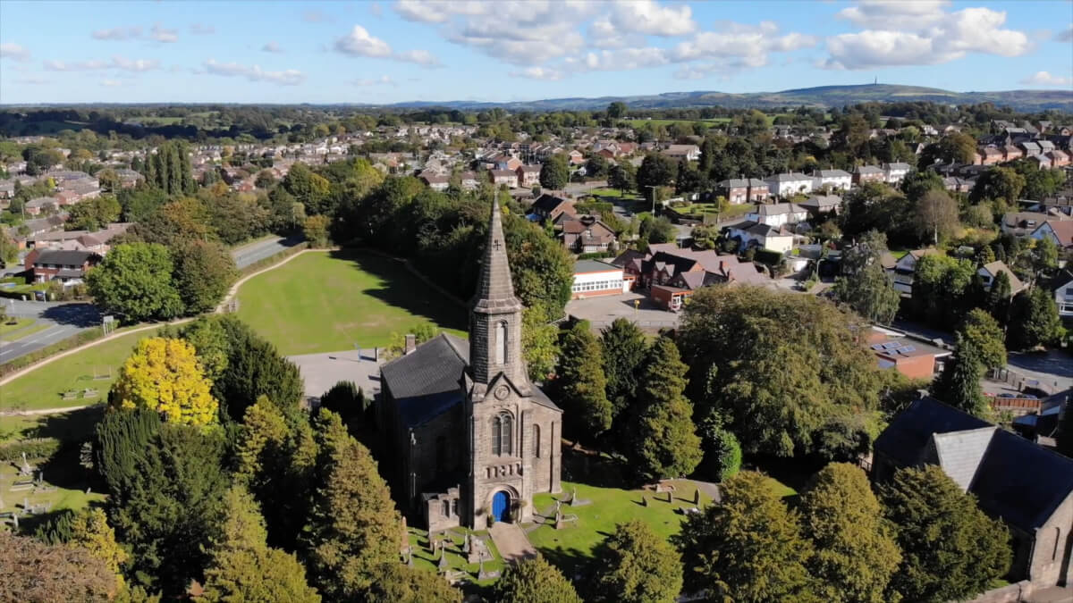 aerial view of congleton