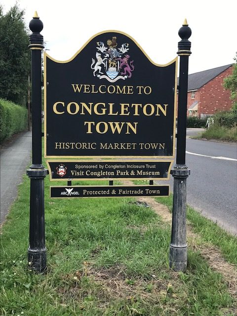 welcome to congleton sign post