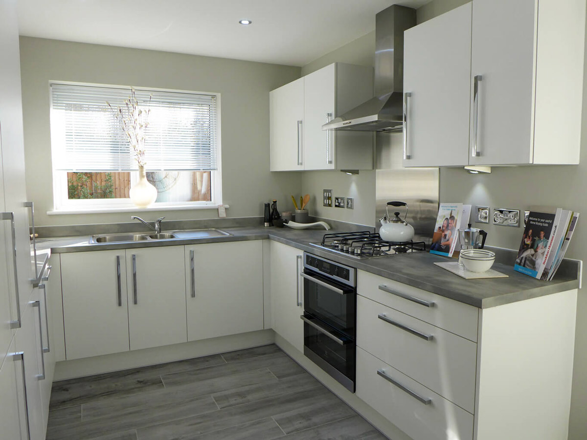 Denholme show home kitchen