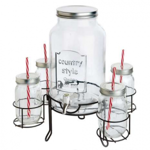 drinks dispenser and glasses summer party essentials