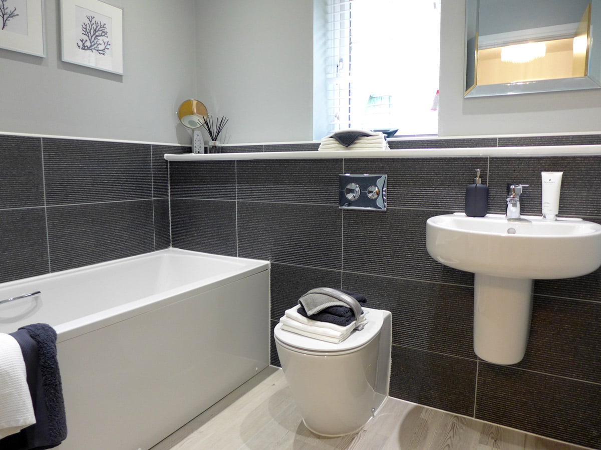 family bathroom with ideal standard sanitaryware