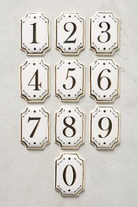 hotel house numbers