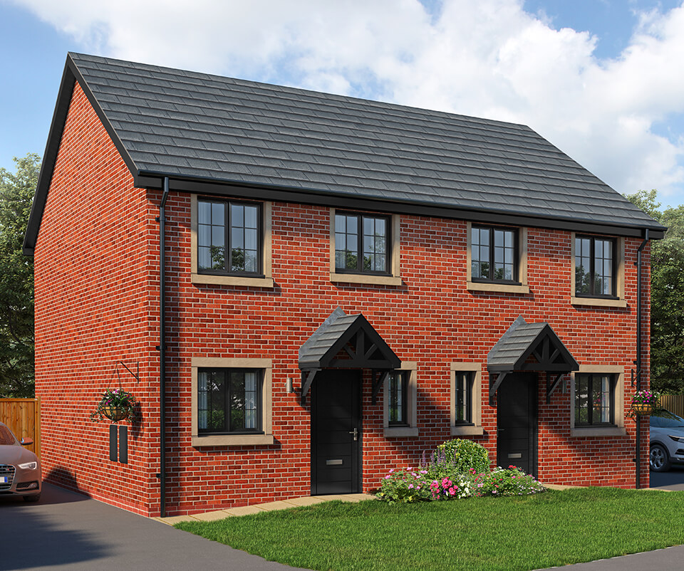 the adel - two bedroom semi detached house with parking spaces