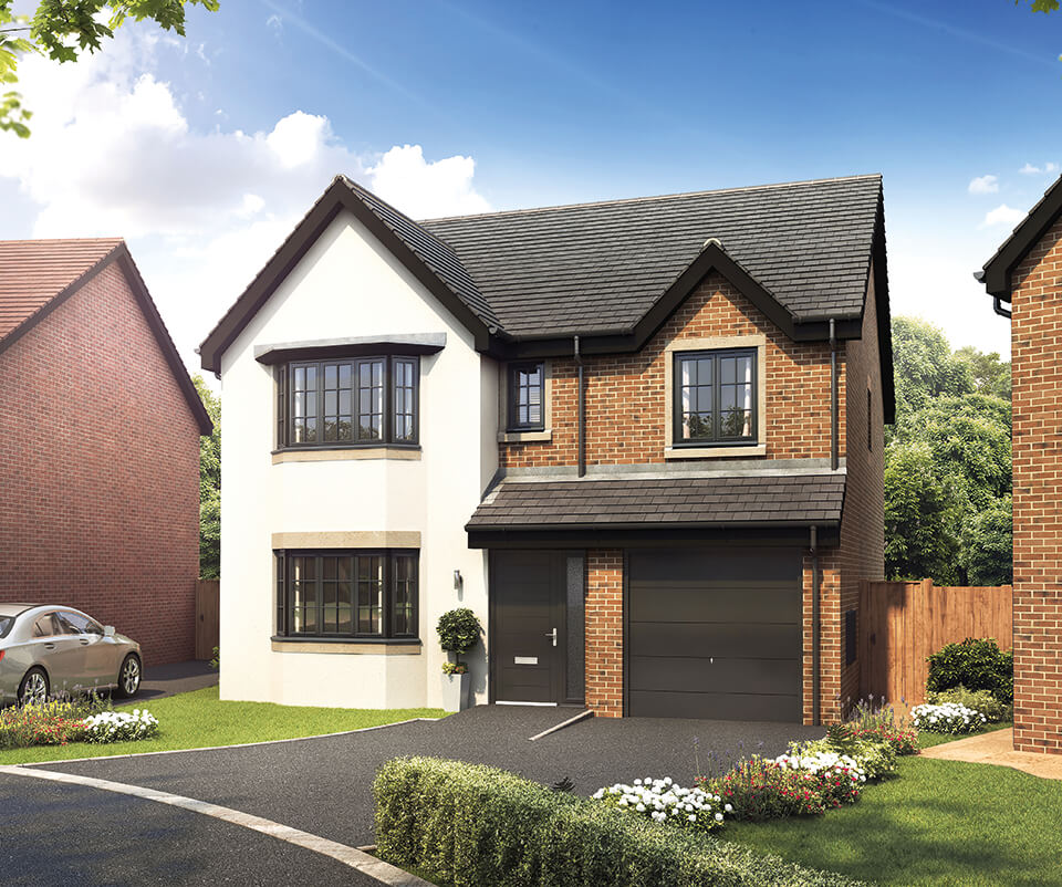 the brearley - four bedroom detached house with integral single garage