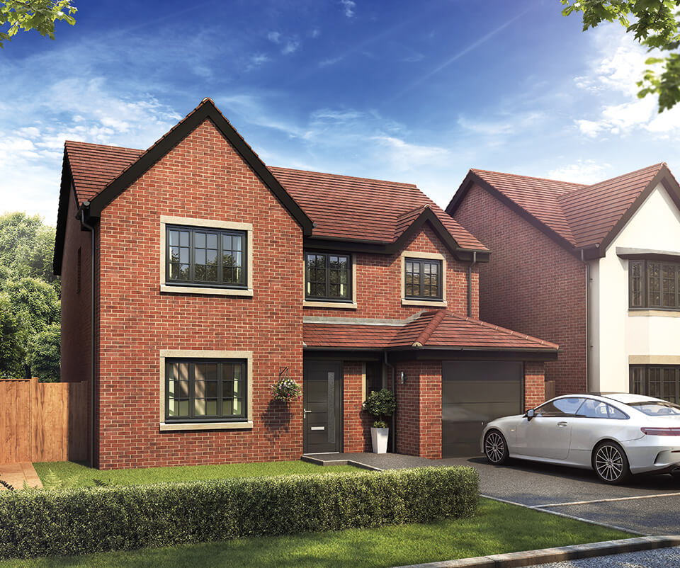 the carron - four bedroom detached house with integral single garage
