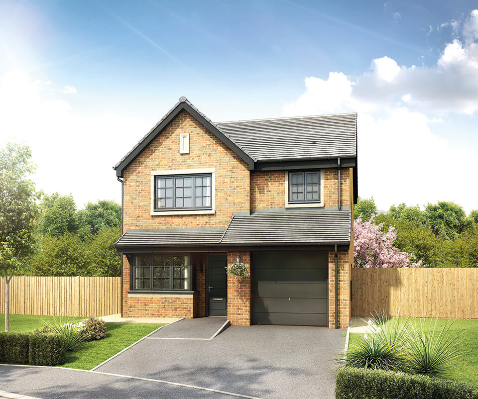 the denholme - three bedroom detached house with integral single garage