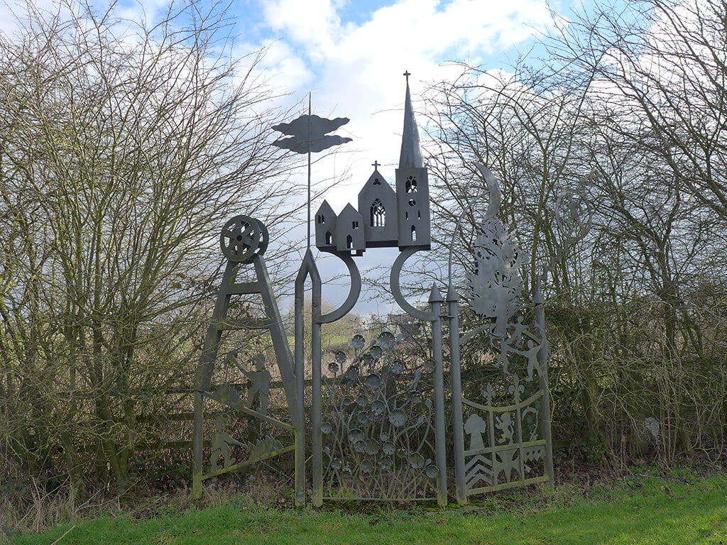 the hawthorns local sculpture